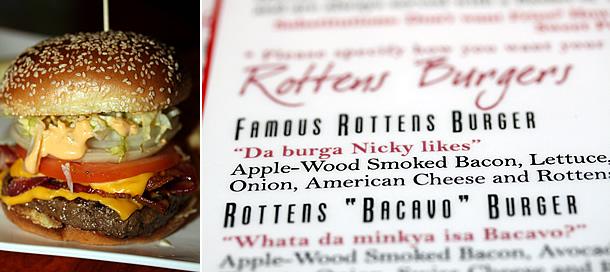 Nicky Rottens Burger and Menu - Coronado California