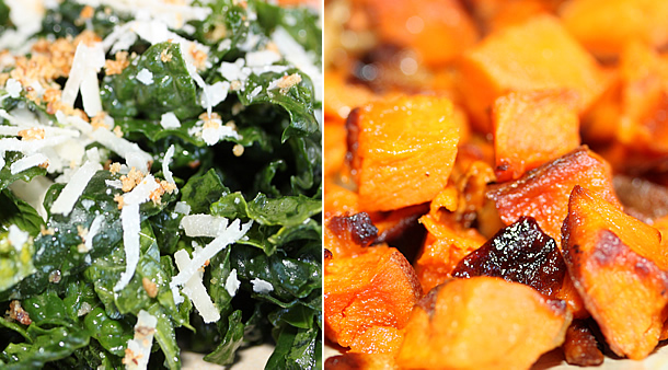 True Food Kitchen - Kale Salad and Sweet Potato Hash