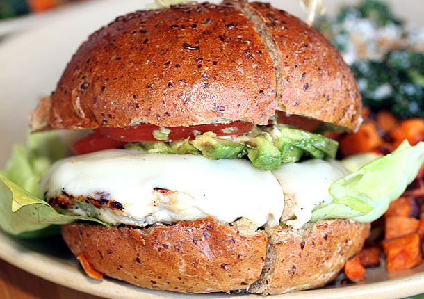 True Food Kitchen Newport Beach California - Turkey Burger